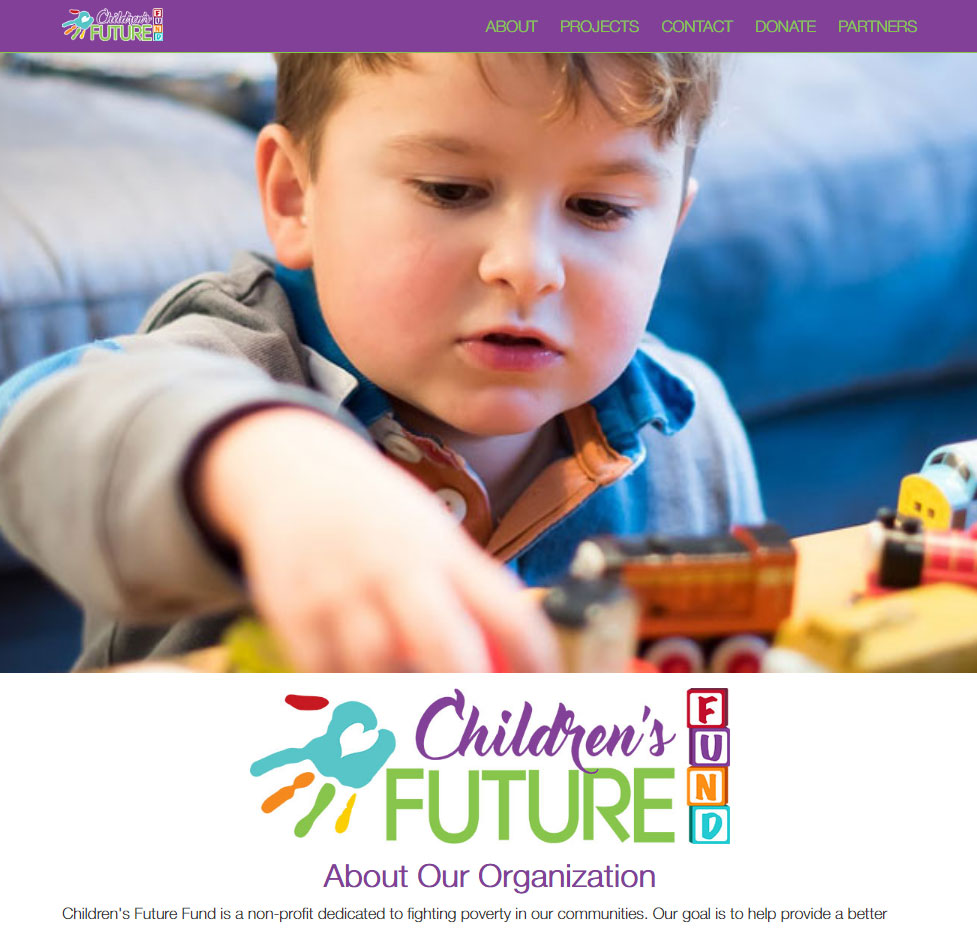 Children's Future Fund Custom Web Site