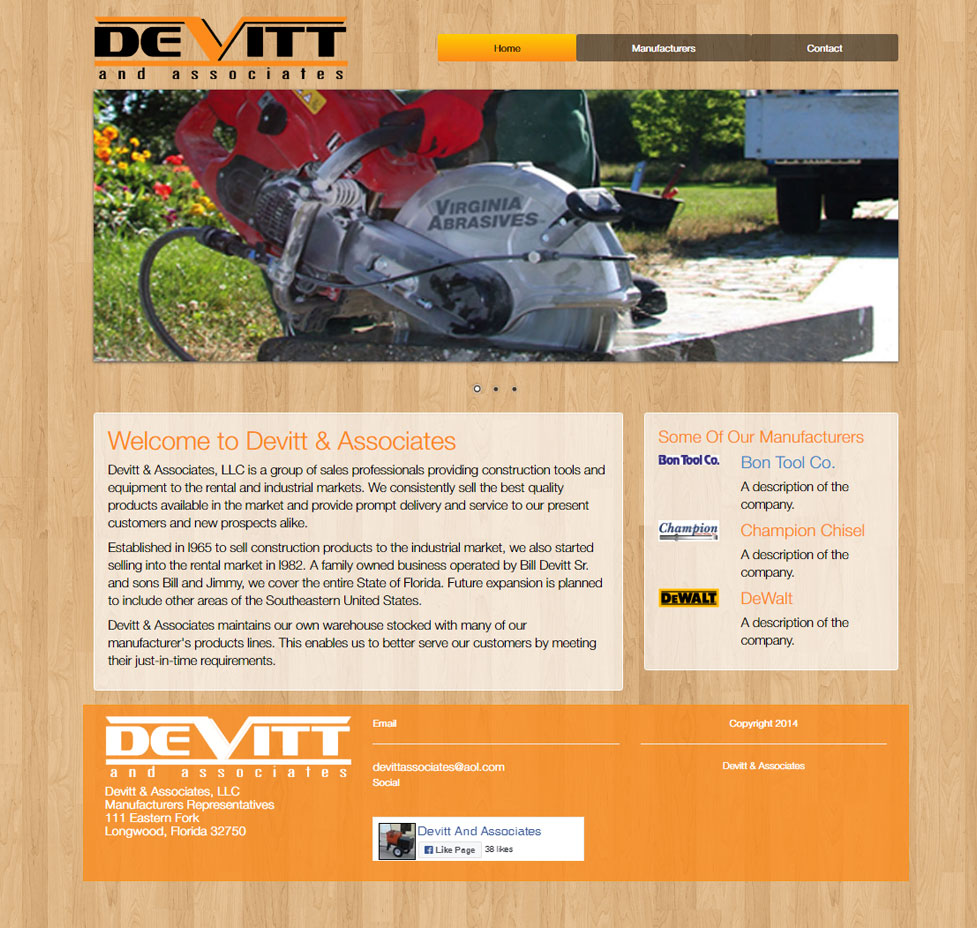 DeVitt And Associates Custom Web Site