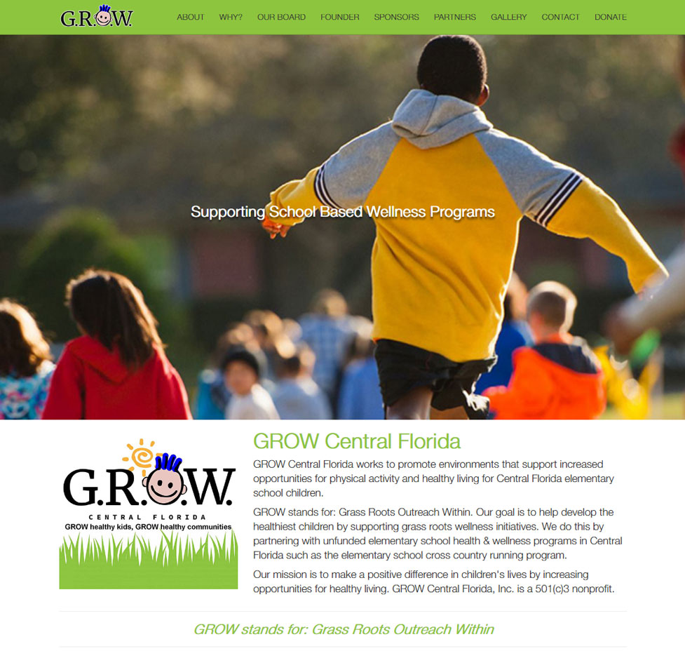 GROW Central Florida Custom Web Site