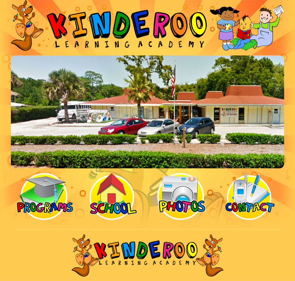 Kinderoo Learning Academy Custom Web Site
