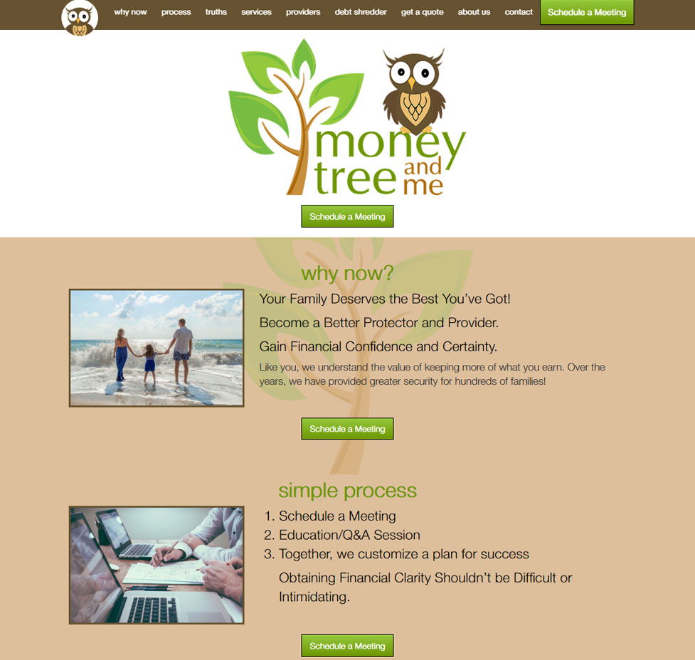 Money Tree and Me Custom Web Site