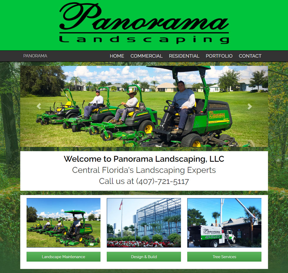 Panorama Landscaping Custom Web Site