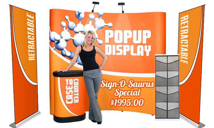 Sign-O-Saurus Custom Trade Show Displays - One of a Kind