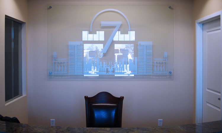 Acrylic Reception Sign with Standoffs