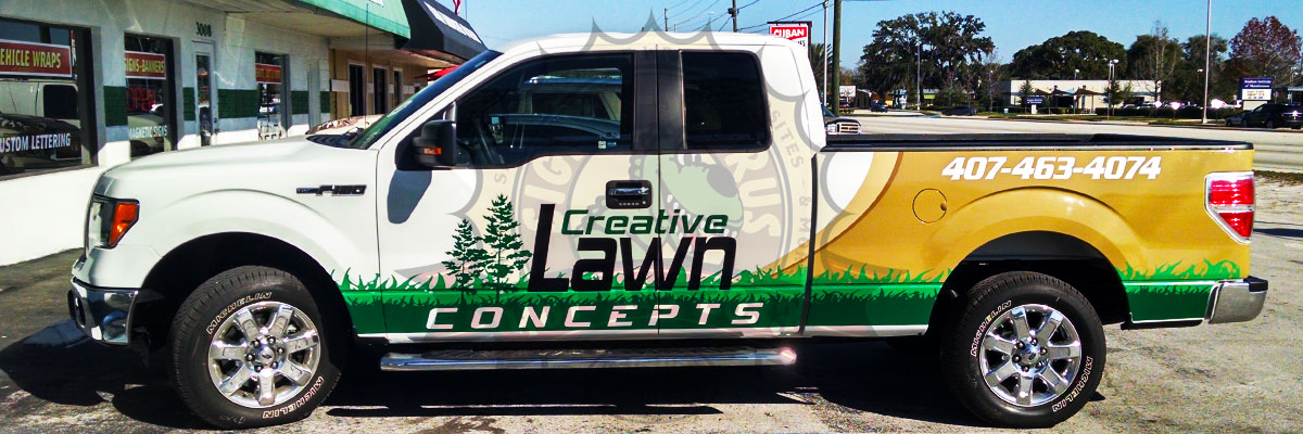 Creative Lawn Concepts Pickup Truck Wrap