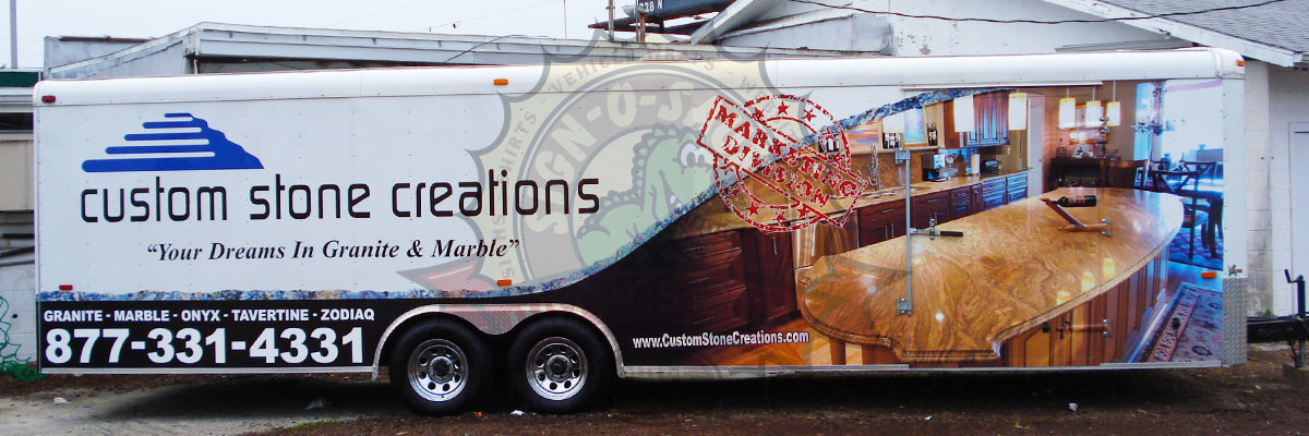 Custom Stone Creations Trailer Wrap