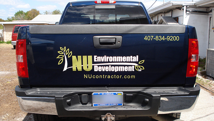 Nu Environmental Development Truck Lettering