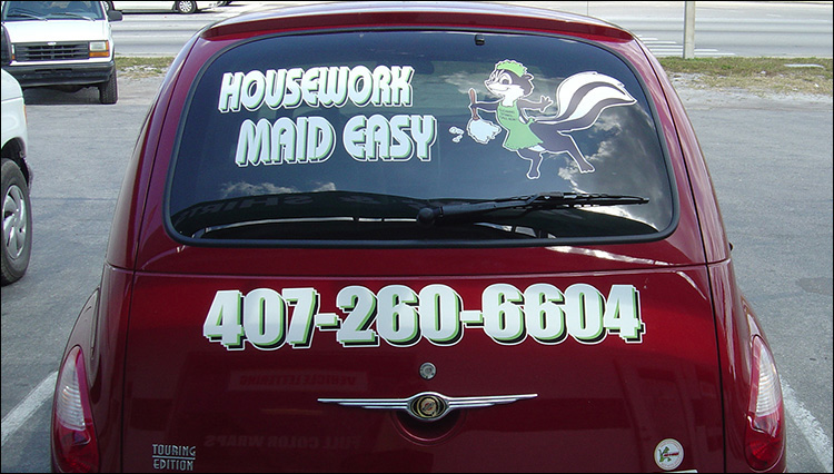 Maid Service Vehicle Graphics