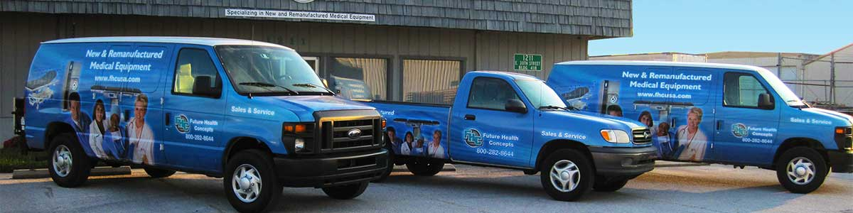 Fleet vehicle wrap for FHC