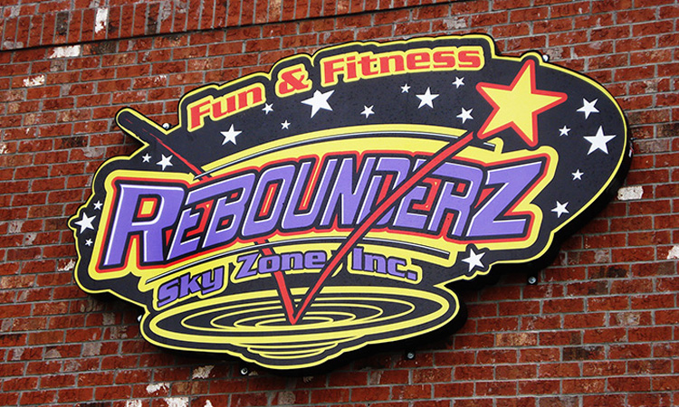 Rebounderz Custom Building Sign