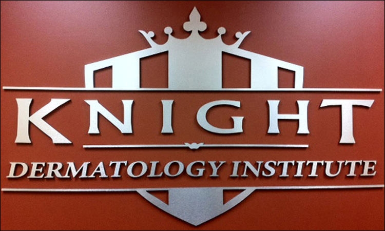 Knight Dermatology Metal Wall Sign