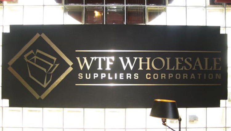 WTF Wholesale Wall Sign