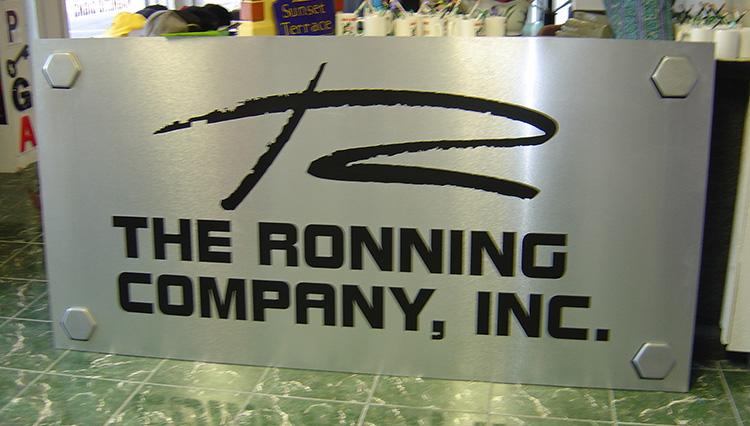 Ronning Company Metal Sign with Standoffs