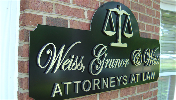 Law Office Entrance Sign
