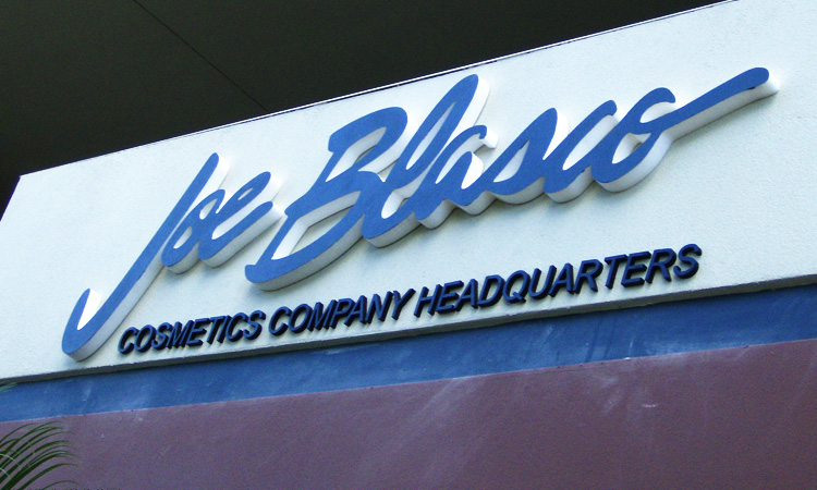 Joe Blasco Dimensional Building Sign