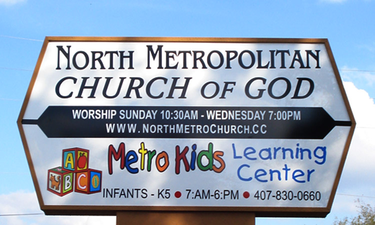 North Metropolitan Church Custom Cabinet Sign