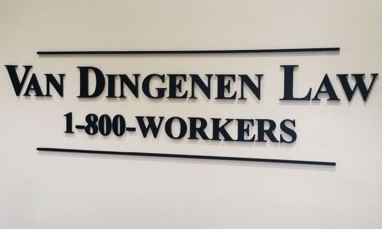 Van Dingenen Law Custom Wall Lettering