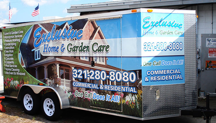 Exclusive Home & Garden Trailer Wrap