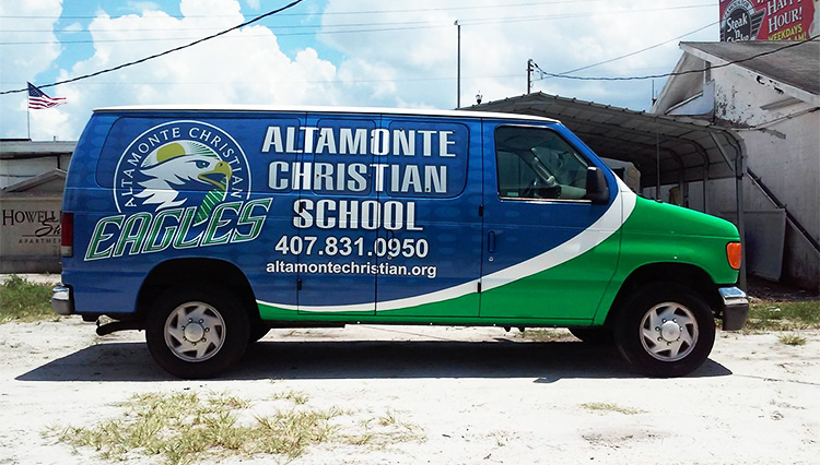 Altamonte Christian School Van Wrap