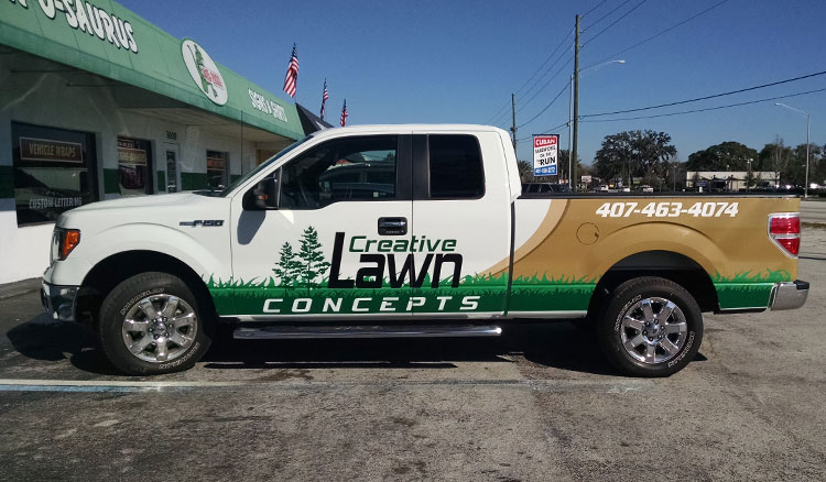 Creative Lawn Concepts Truck Wrap